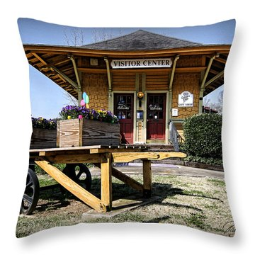Train Depot Throw Pillow