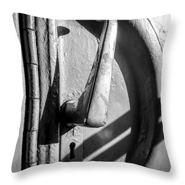 Train Door Handle Throw Pillow