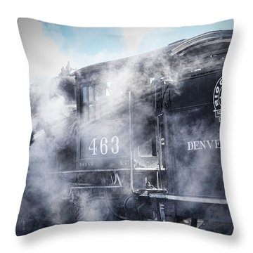 Train Engine 463 Throw Pillow