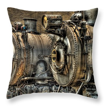 Train - Engine - Brothers Forever Throw Pillow by Mike Savad