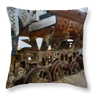 Train Graveyard Uyuni Bolivia 14 Throw Pillow