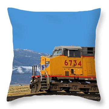 Train In Oregon Throw Pillow