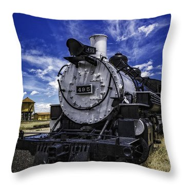 Throw Pillow featuring the photograph Train Kept A Rollin by Bitter Buffalo Photography