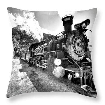 Train Nin Silverton Colorado Throw Pillow