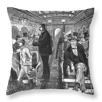 Train: Passenger Car, 1876 Throw Pillow by Granger