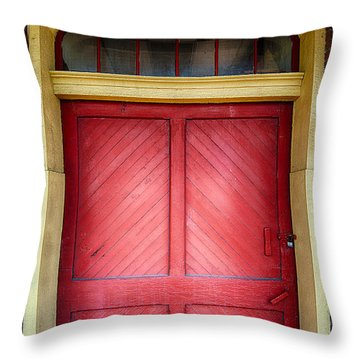 Train Station Doorway Throw Pillow