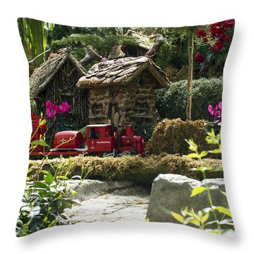 Train Surprise Throw Pillow