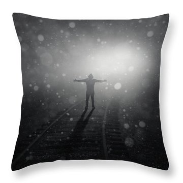 Train To Catch Throw Pillow