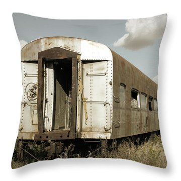 Train To Nowhere Throw Pillow