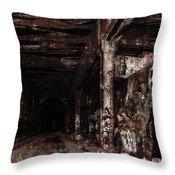 Donner Summit Train Tunnel Throw Pillow