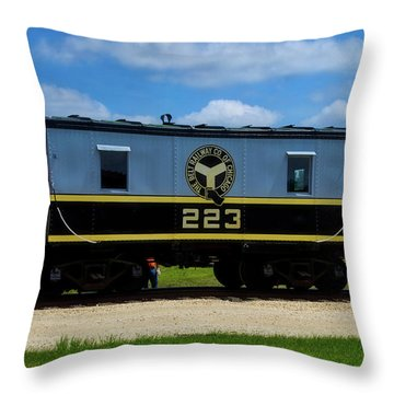 Trains Caboose 223 Beltway Of Chicago Throw Pillow