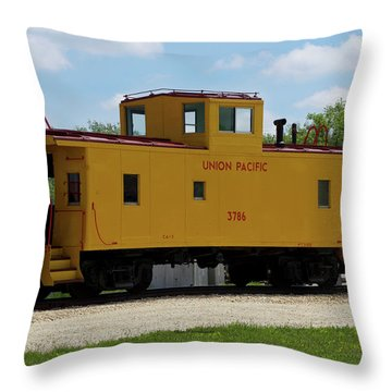 Trains Caboose 3786 Union Pacific Throw Pillow
