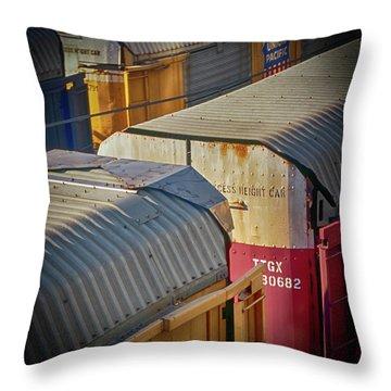 Trains - Nashville Throw Pillow