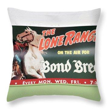 Trains Vintage Train Car Ad The Lone Ranger Throw Pillow