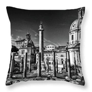 Trajan's Forum - Forum Traiani Throw Pillow