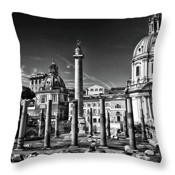 Trajan's Forum - Forum Traiani Throw Pillow