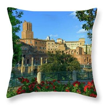 Trajan's Forum, Traiani, Roma, Italy Throw Pillow by Elenarts - Elena Duvernay photo