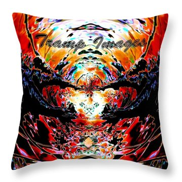 Tramp Images Logo Throw Pillow