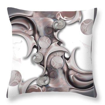Throw Pillow featuring the digital art Trancendental Soul Of Innocence by Carmen Fine Art