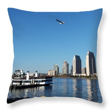 Tranquility By The Bay Throw Pillow