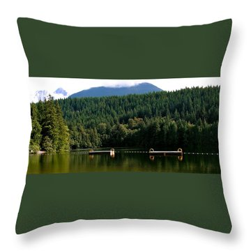Tranquil Alice Lake Throw Pillow