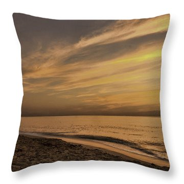 Throw Pillow featuring the photograph Tranquil Beach by Don Durfee
