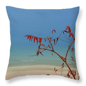 Tranquil Blue Throw Pillow