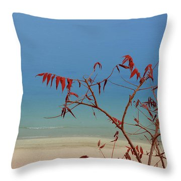 Tranquil Blue Throw Pillow by Arthur Fix
