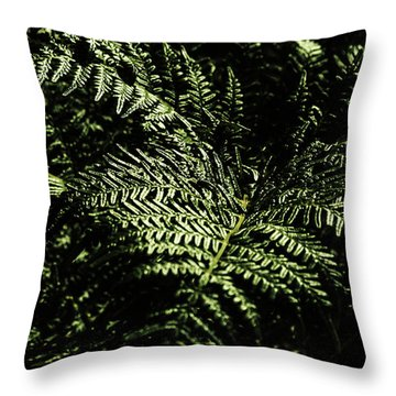 Tranquil Botanical Ferns Throw Pillow