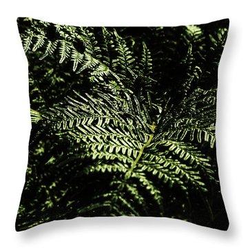 Tranquil Botanical Ferns Throw Pillow