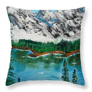 Tranquil Countryside  Throw Pillow