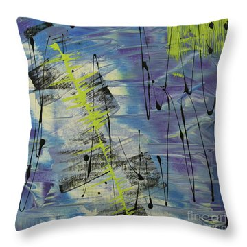 Tranquil Dream I Throw Pillow by Cathy Beharriell