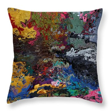 Tranquil Escape-1 Throw Pillow by Alika Kumar