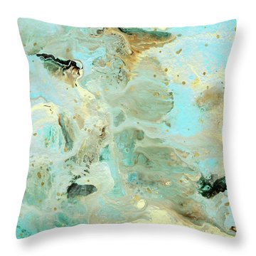 Tranquil Escape- Abstract Art By Linda Woods Throw Pillow