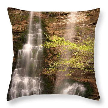 Tranquil Falls In Vertical Throw Pillow by Tamyra Ayles
