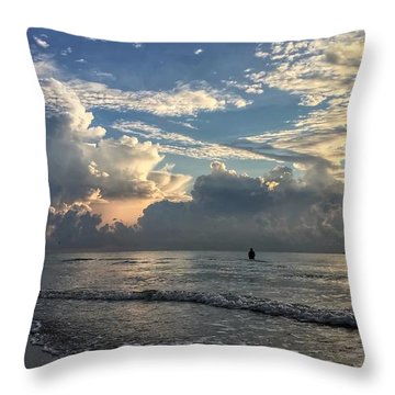Tranquil Fisherman Throw Pillow