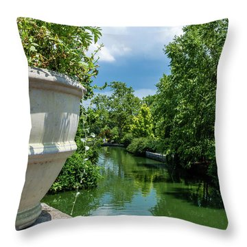 Tranquil Garden Throw Pillow