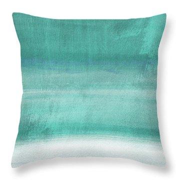 Tranquil Horizon- Art By Linda Woods Throw Pillow