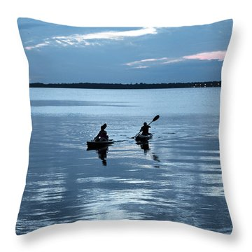Tranquil Journey Throw Pillow by Anthony Baatz
