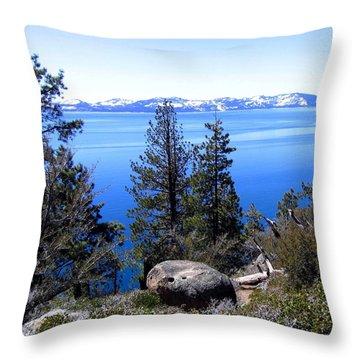 Tranquil Lake Tahoe Throw Pillow