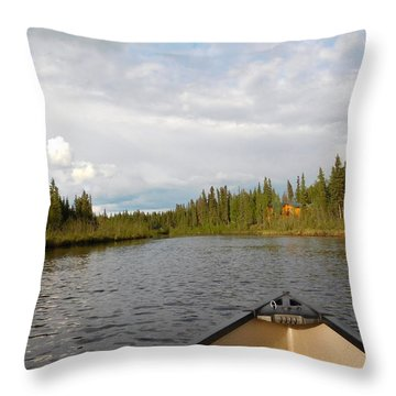 Tranquil Moment North Pole Ak Throw Pillow