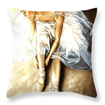 Tranquil Preparation Throw Pillow by Richard Young