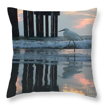 Throw Pillow featuring the photograph Tranquil Reflections by LeeAnn Kendall
