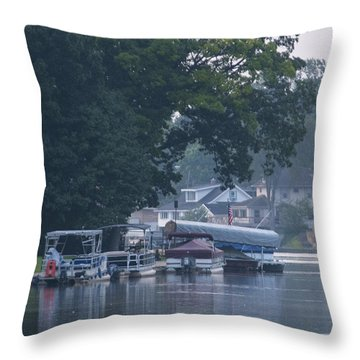 Tranquil River Throw Pillow