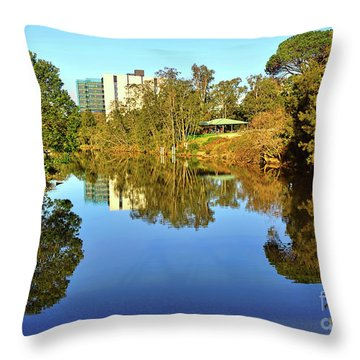 Throw Pillow featuring the photograph Tranquil River By Kaye Menner by Kaye Menner