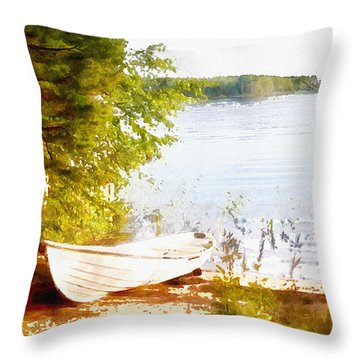 Tranquil River Throw Pillow by Shirley Stalter