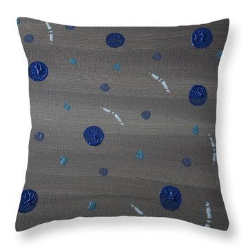 Tranquil Acrylic Abstract Throw Pillow