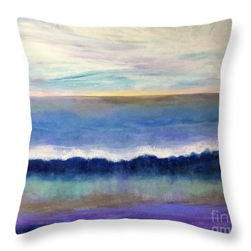 Tranquil Seas Throw Pillow