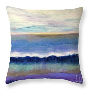 Tranquil Seas Throw Pillow