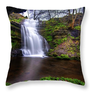 Throw Pillow featuring the photograph Tranquil Slow Soft Waterfall by Dennis Dame